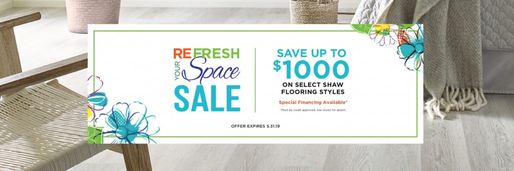 Refresh Your Space Sale coupon | Bram Flooring