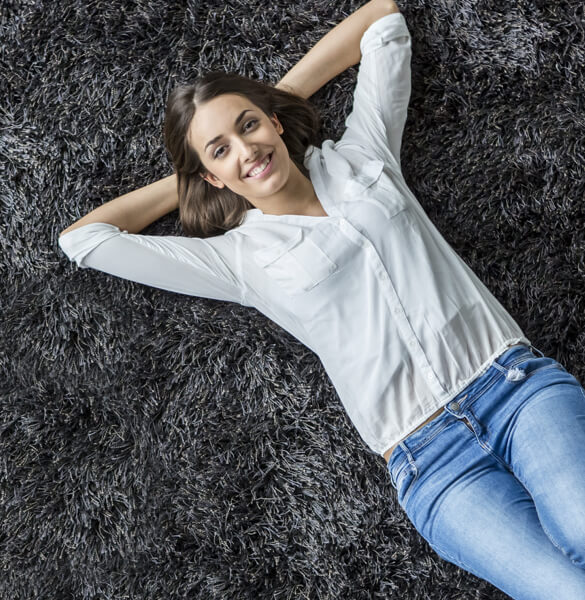 Lady on carpet | Bram Flooring