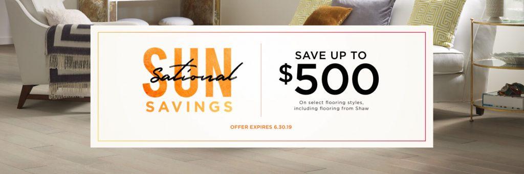 Sun Sational Saving Sale | Bram Flooring