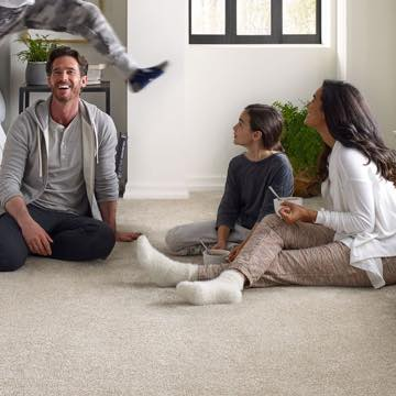 Family gosping on Soft carpet | Bram Flooring