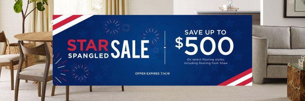 Star Spangled Sale banner | Bram Flooring