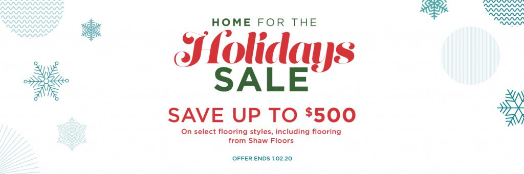 Home for holidays sale banner | Bram Flooring