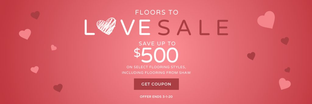 Floors to love sale banner | Bram Flooring