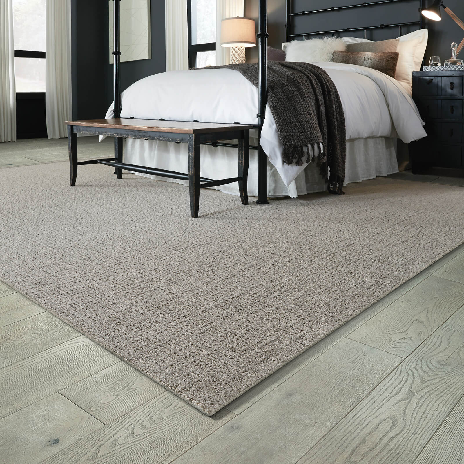 Kensington Area rug for spacious bedroom | Bram Flooring