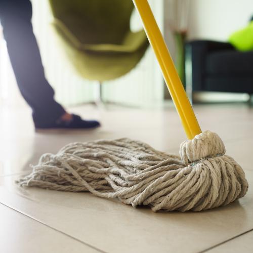 Mopping tile flooring | Bram Flooring
