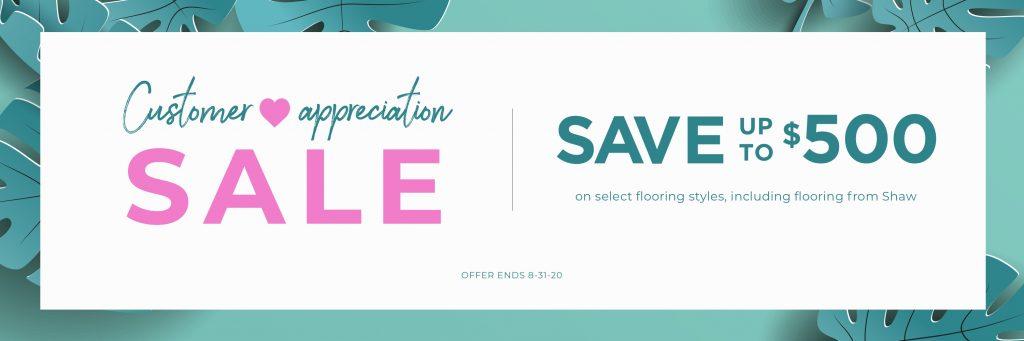 Customer Appreciation Sale | Bram Flooring
